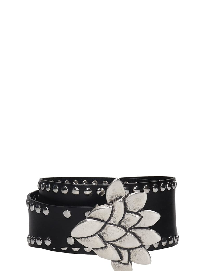 Isabel Marant Lowi Belts In Black Leather - black