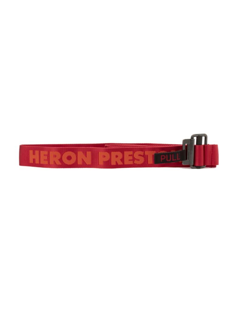 HERON PRESTON Kk Tape Belt - Coral Red Coral Red
