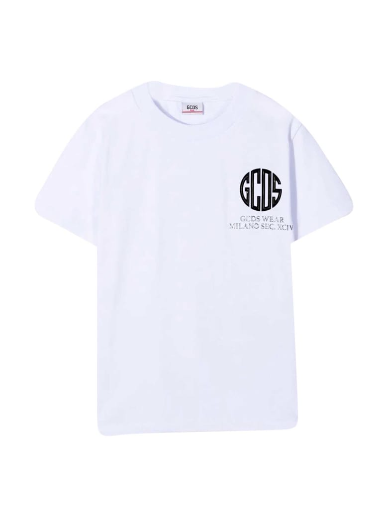 GCDS Mini White T-shirt Diadora Junior - Bianco