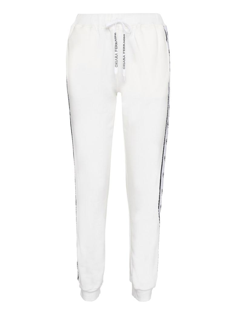 Chiara Ferragni Flirting Eyes Side Stripes Trousers - White
