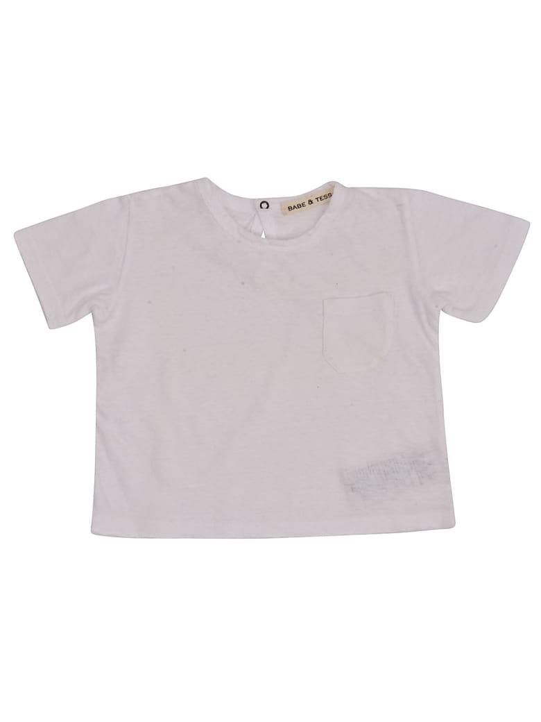 Babe & Tess Pocket Short Sleeve T-shirt - White