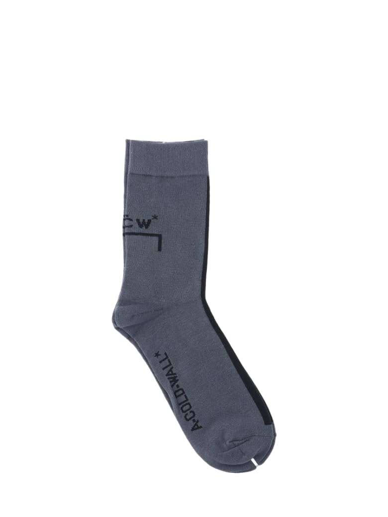A-COLD-WALL Logo Socks - Grey
