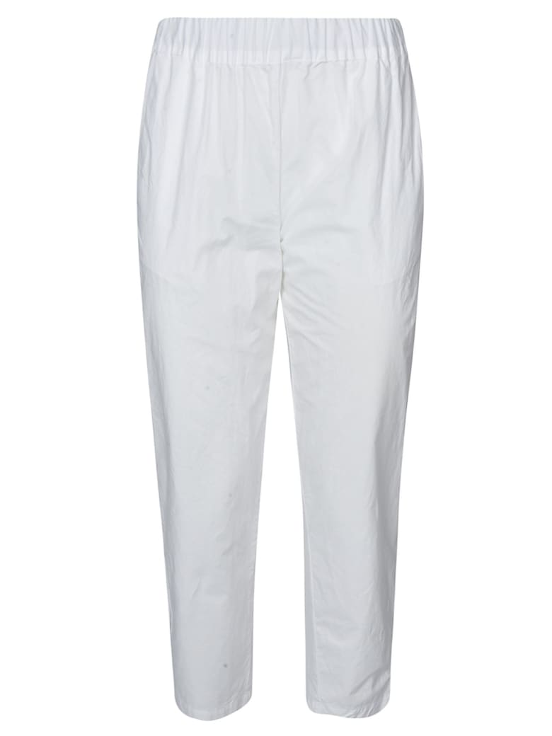 Erika Cavallini Ribbed Waist Trousers - White