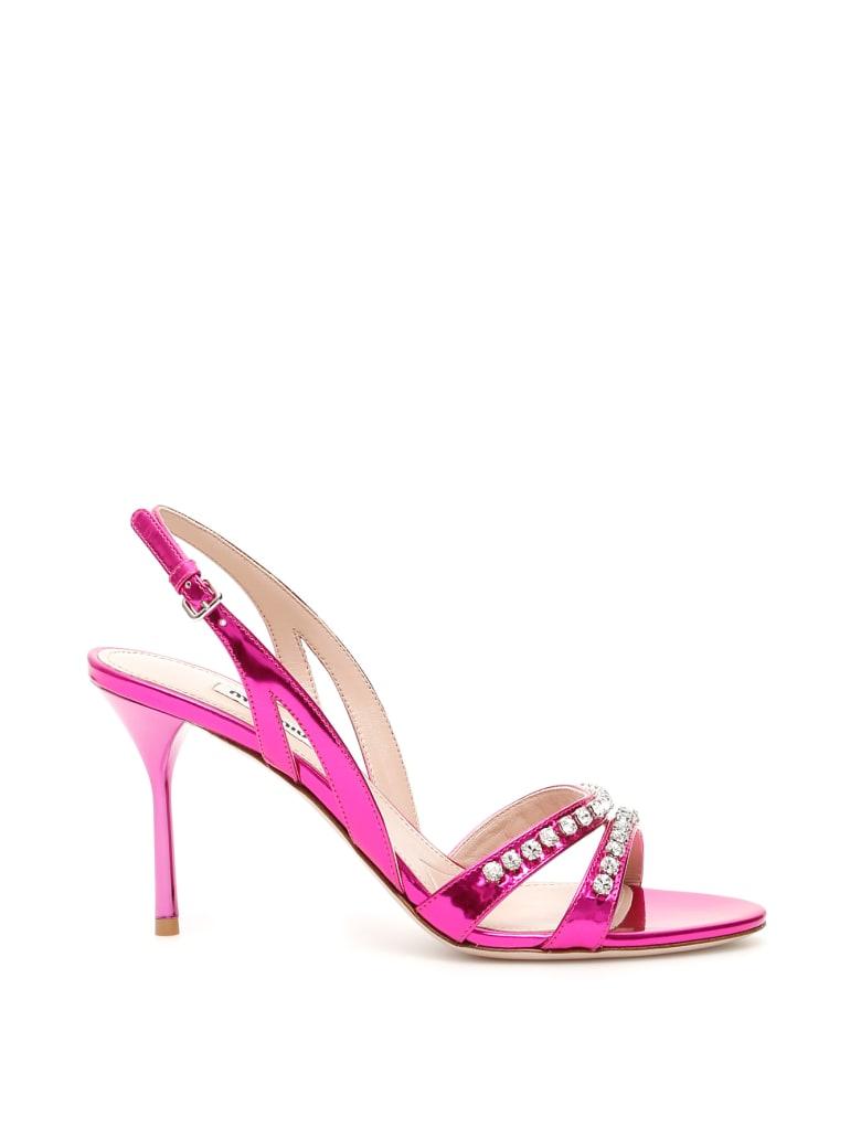 Miu Miu Crystal Sandals - FUXIA (Fuchsia)