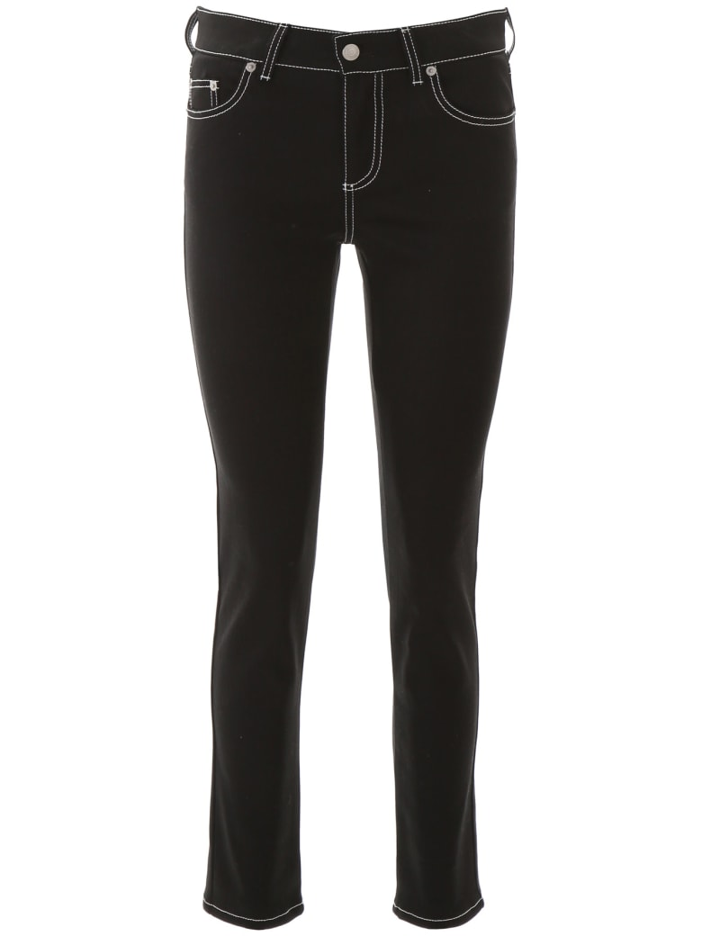 Alexander McQueen Jeans With Contrast Stitches - BLACK (Black)