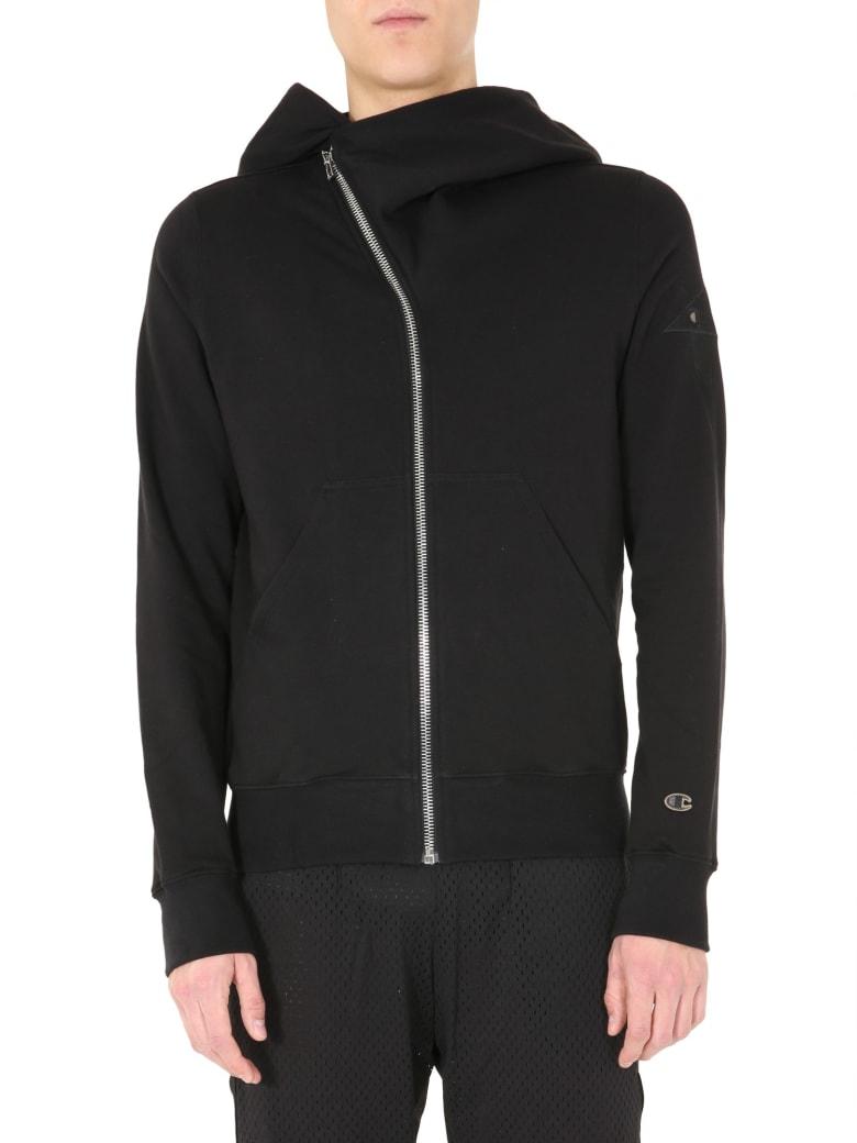 Rick Owens Sweatshirt With Zip - NERO