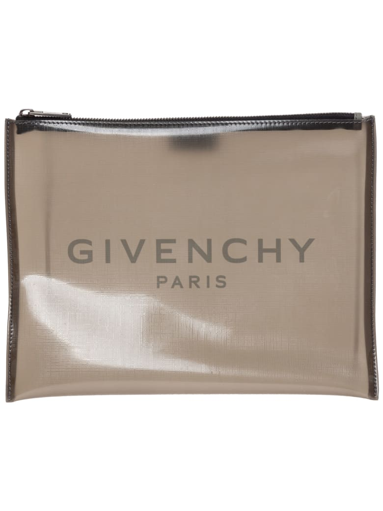 Givenchy Mirrored Bolts Flames Document Holder - Grey