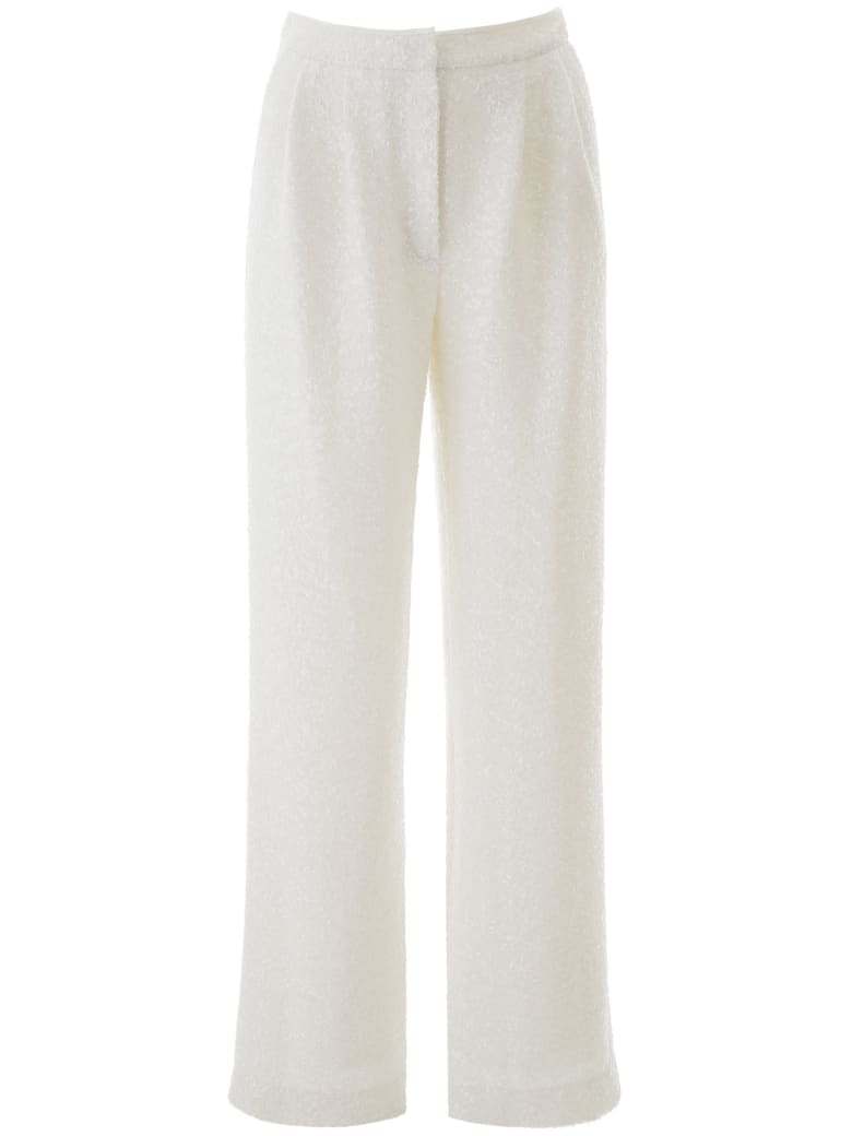 In The Mood For Love Sequined Palazzo Pants - WHITE (White)