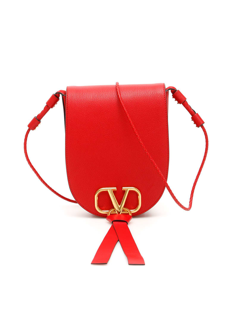 Valentino Vring Crossbody Bag - ROUGE PUR (Red)