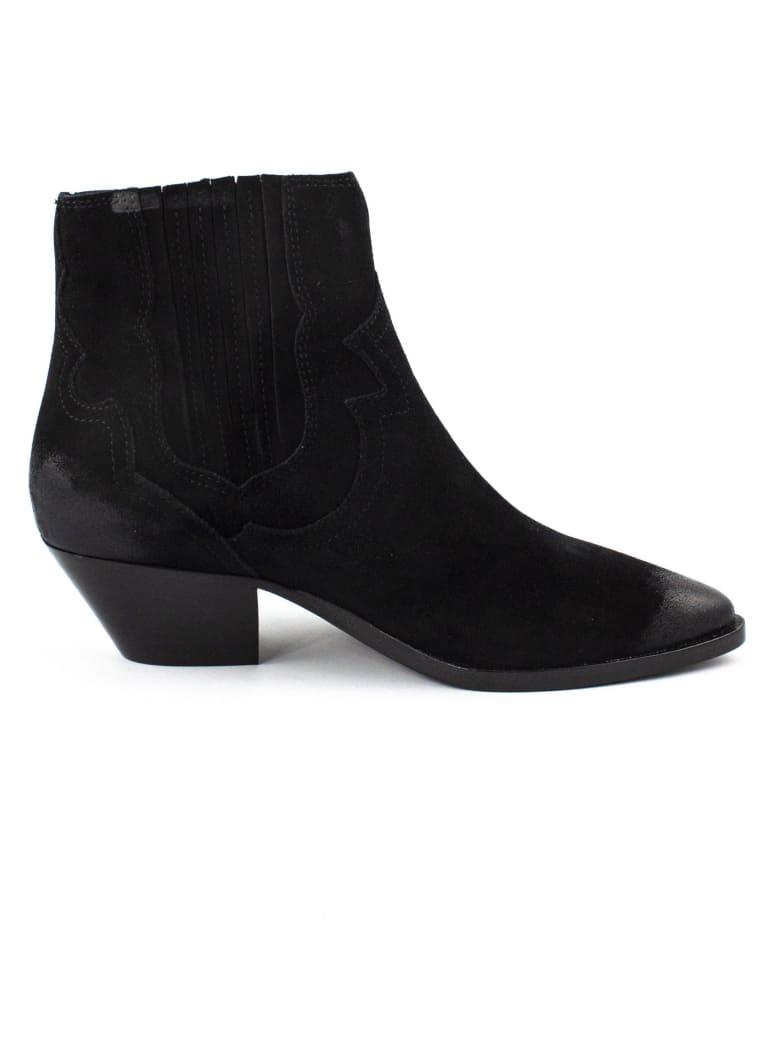 Ash Black Falcon Ankle Boots - Nero