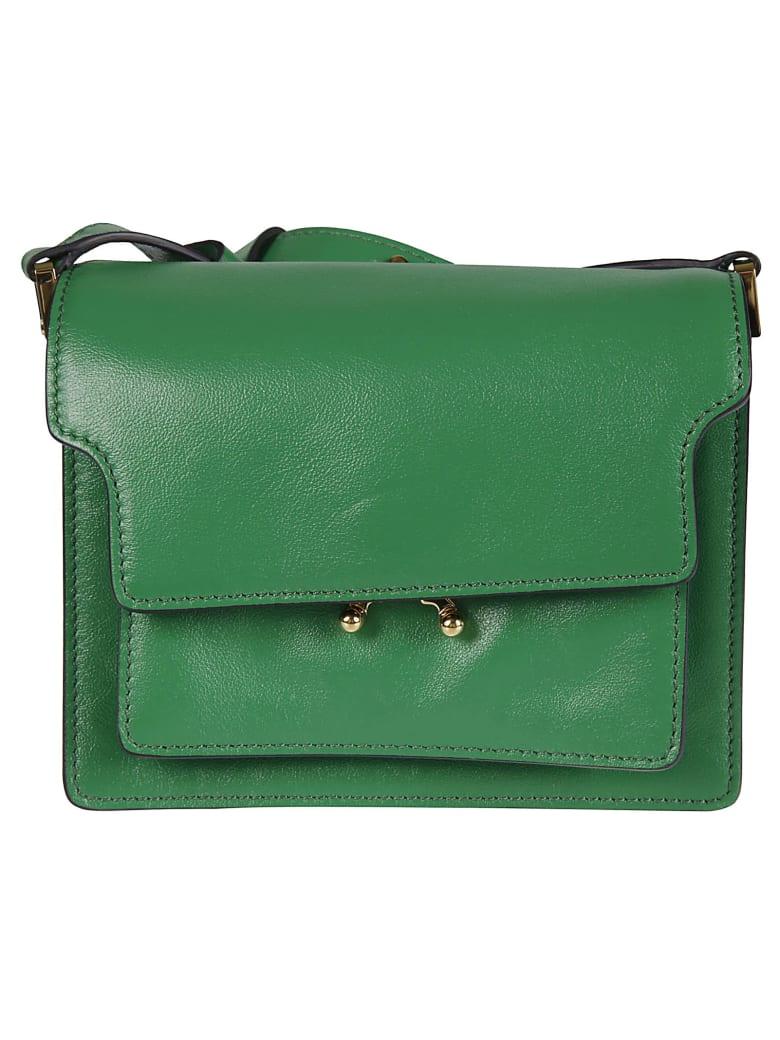 Marni Long Strap Flap Shoulder Bag - Sea Green