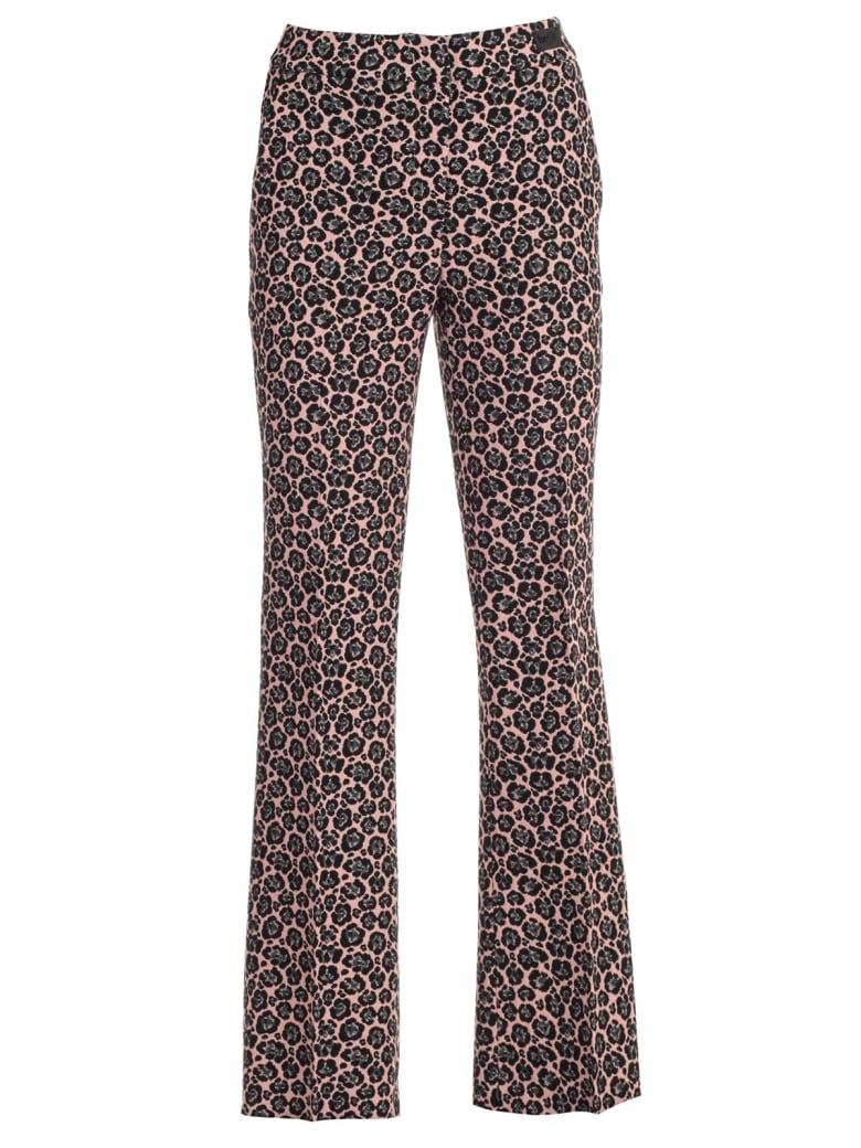 Be Blumarine Pants Flared Jacquard - Rosa