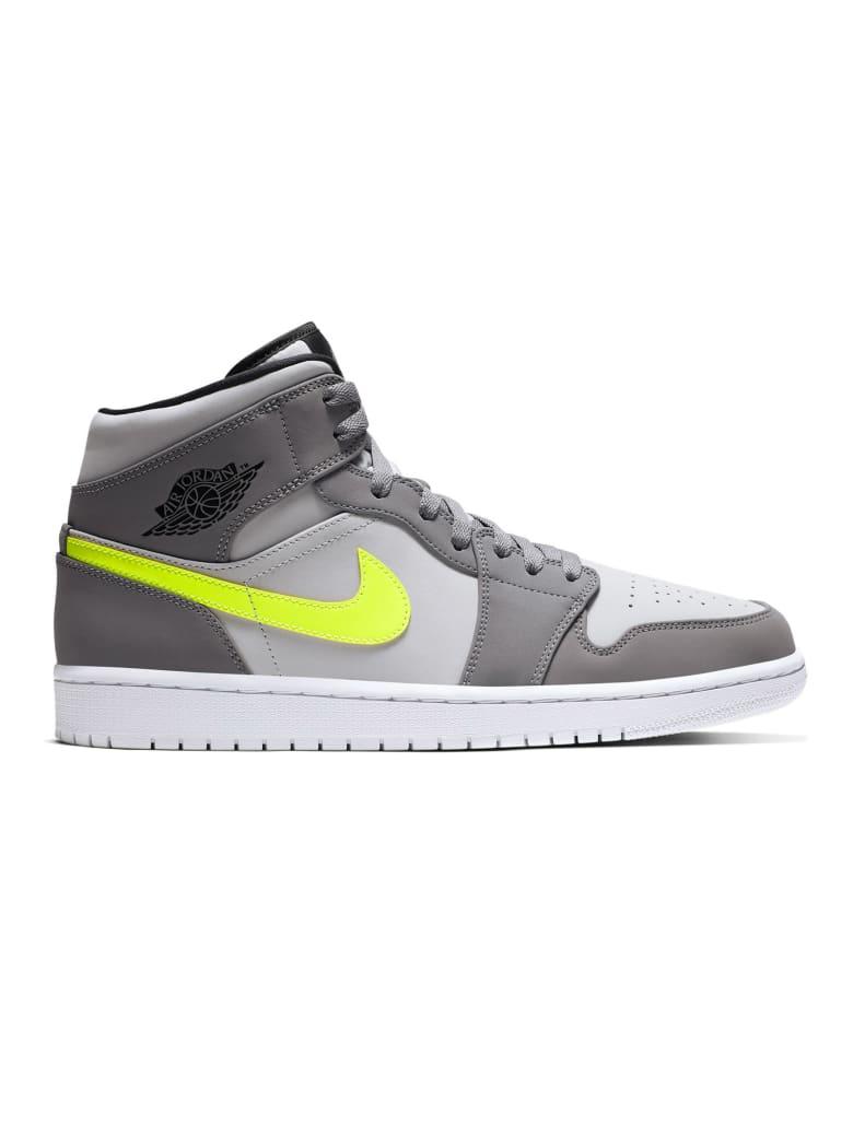 huge discount 20e75 04dca Best price on the market at italist | Nike Air Jordan 1 Mid -  Gunsmoke/volt-neutral Grey-white