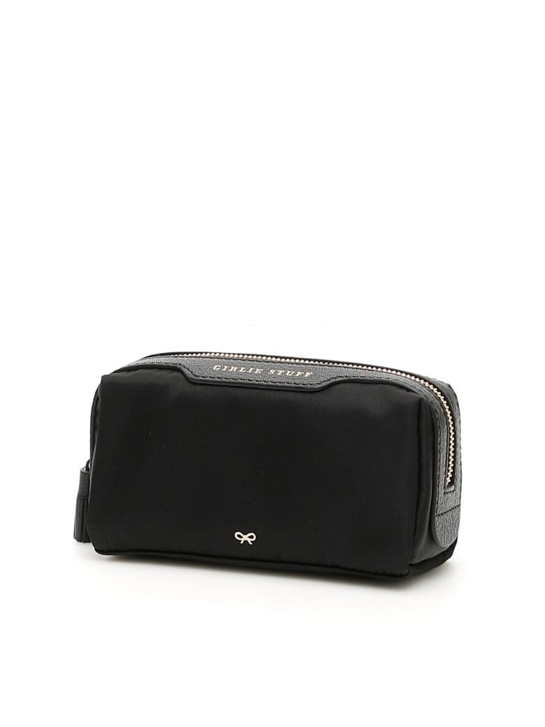 Anya Hindmarch Girlie Stuff Pouch - BLACK (Black)