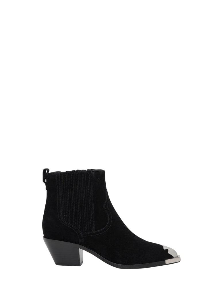 Ash Floyd Cowboy Ankle Boots - Nero