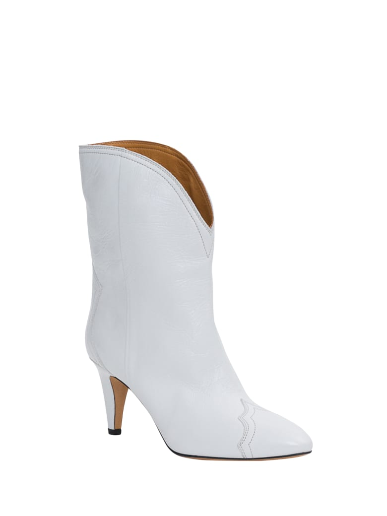Isabel Marant Dythey Ankle Boots - Bianco