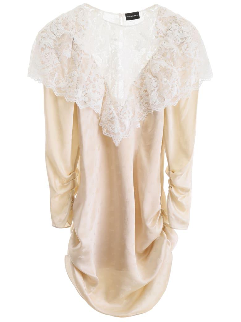 Magda Butrym Beja Mini Dress With Lace - BEIGE (Beige)