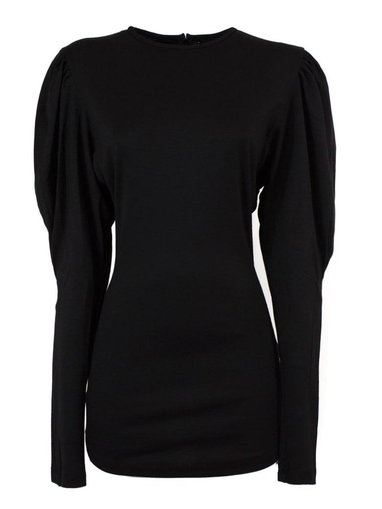 Isabel Marant Black Virgin Wool Davallia Top - Nero