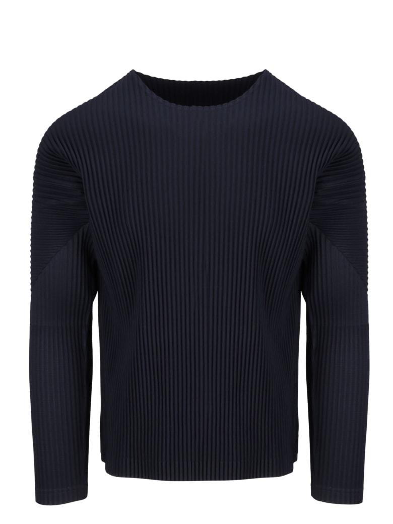 Homme Plissé Issey Miyake Pleated Sweatshirt - Black