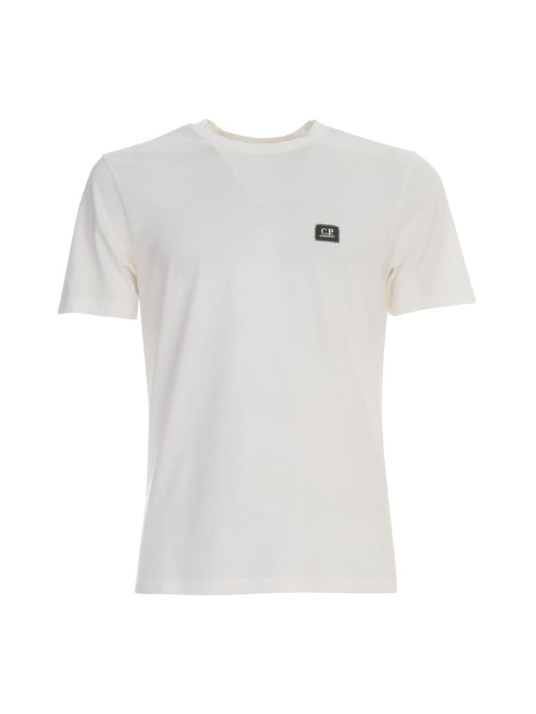 C.P. Company T-shirt S/s W/ Logo - Gauze White