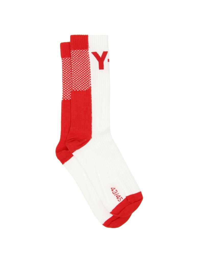 Y-3 Logo Socks - White/red