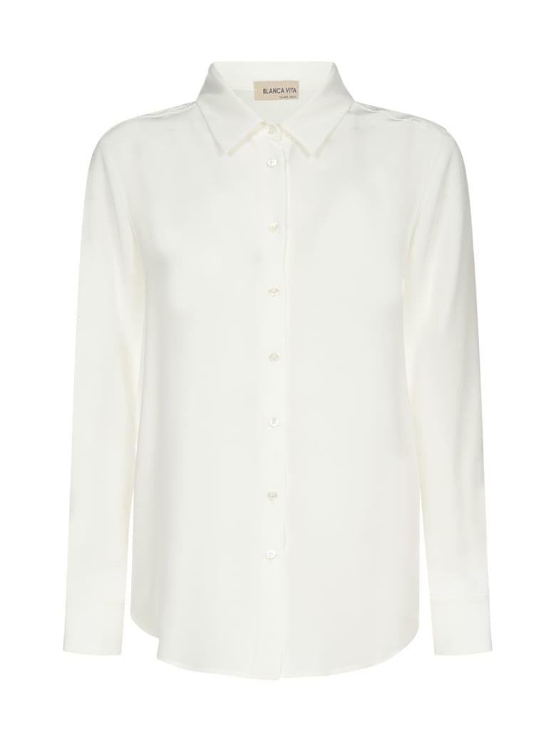 Blanca Vita Cassiopea Silk Shirt - Diamante