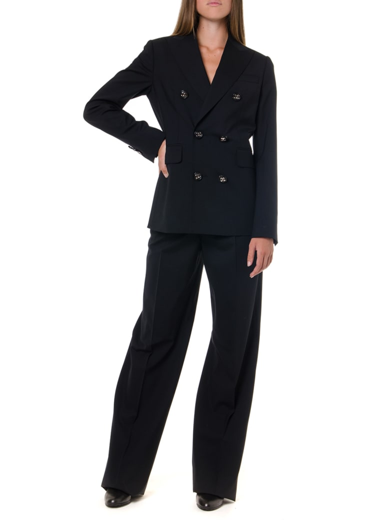 Dsquared2 Black Two Pieces Wool Suit - Black