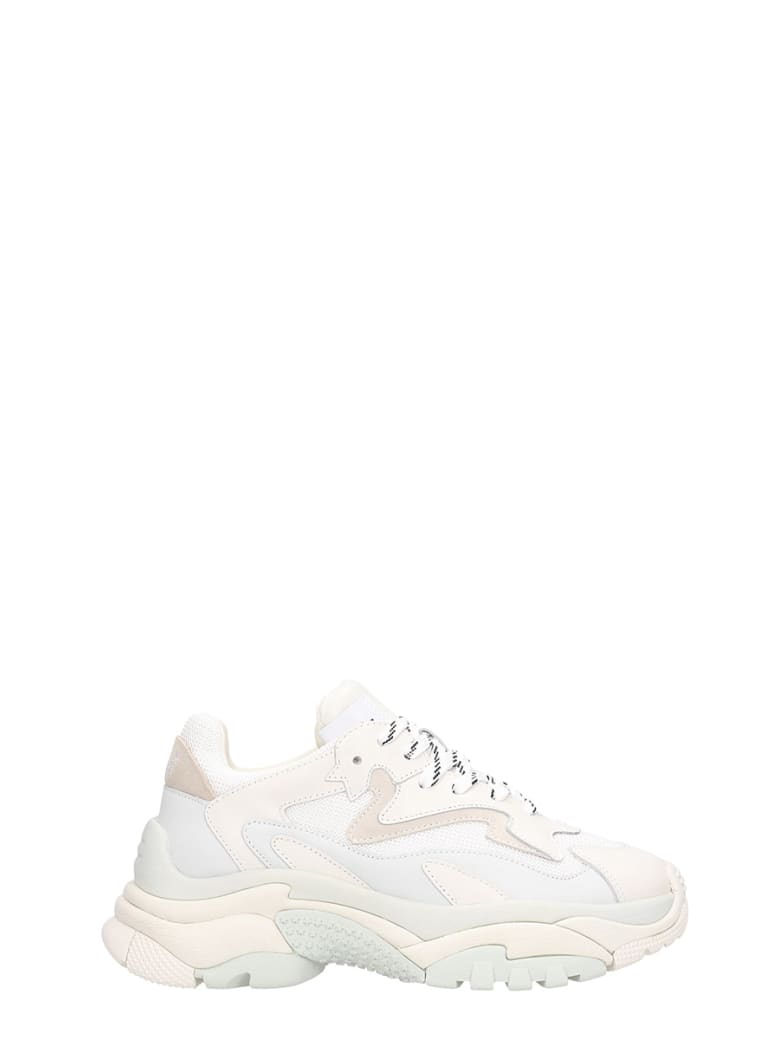 Ash Addict 2 Trainers White Leather And  Mesh - white
