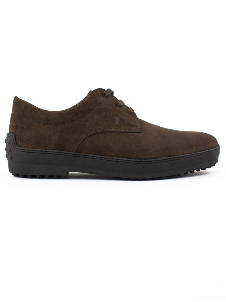 Tod's Desert Boots In Brown Suede - Testa Di Moro