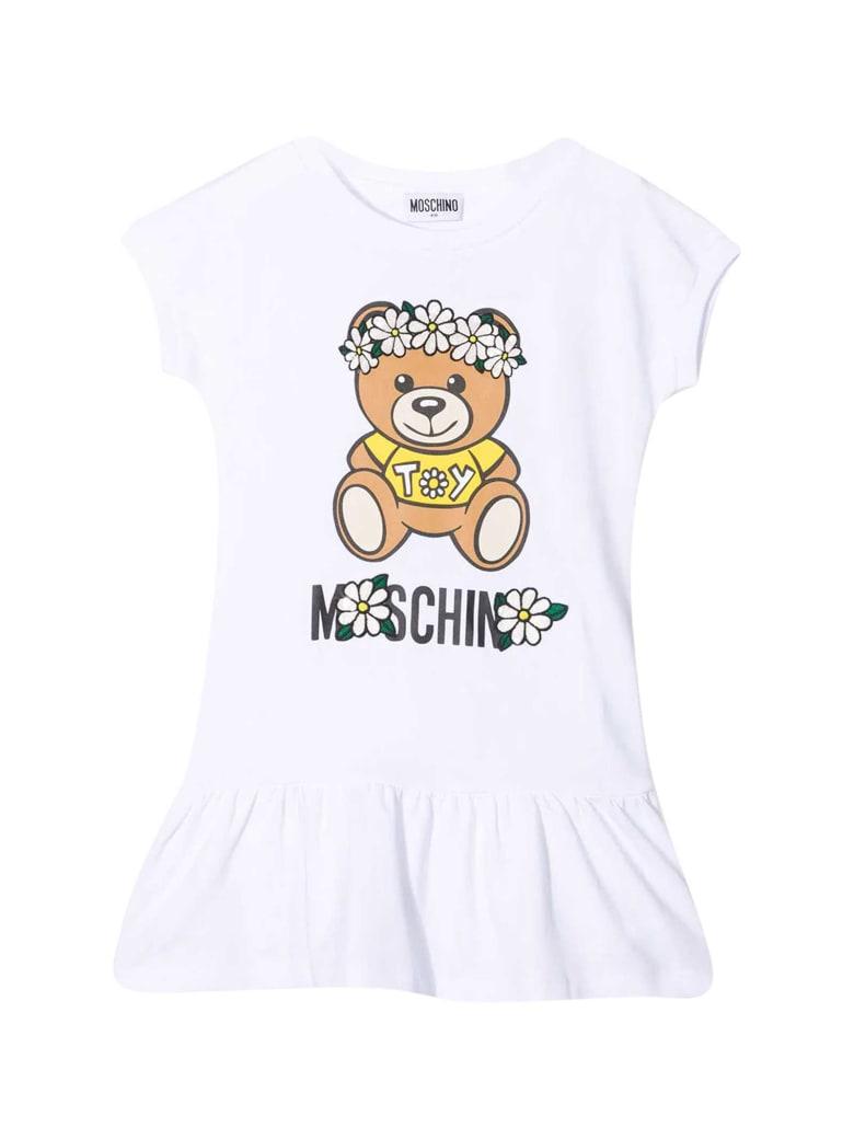 Moschino White Dress With Toy Print - Bianco