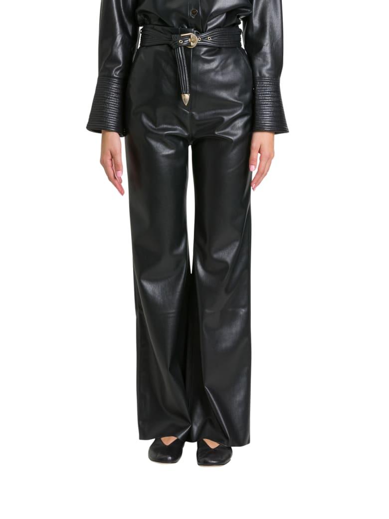 Nanushka Kisa Trousers In Vegan Leather - Nero