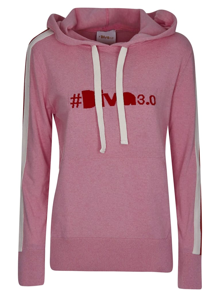 Diva Embroidered Hoodie - Pink