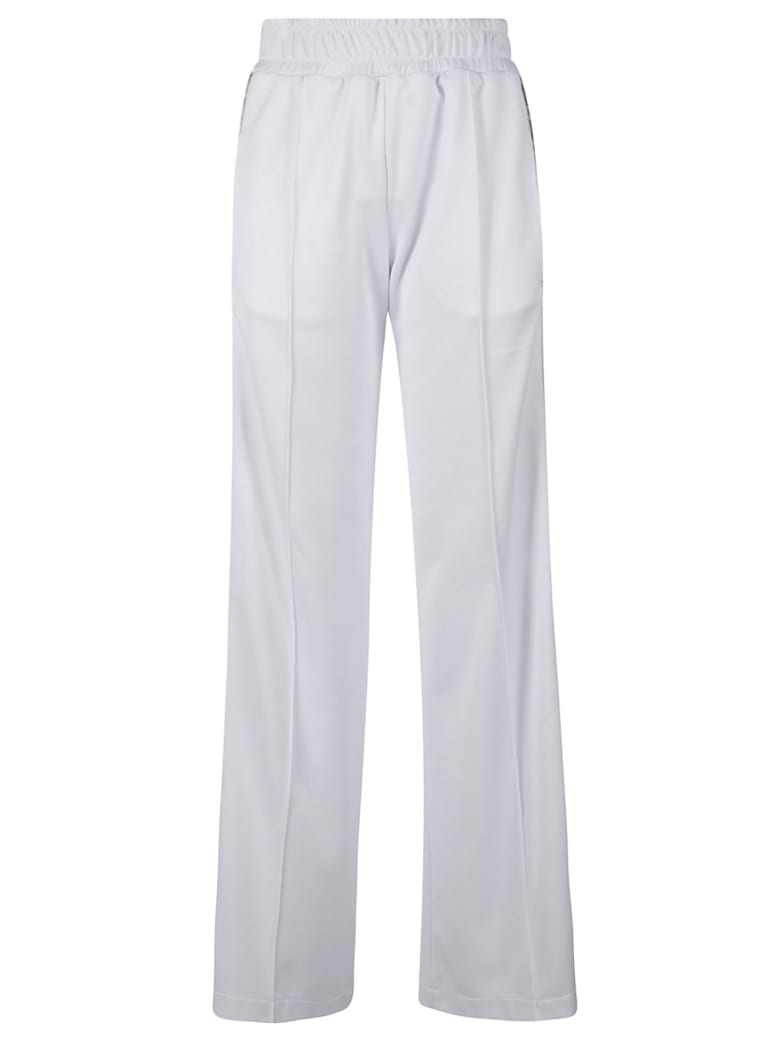 Fendi Ribbed Waist Long Trousers - White