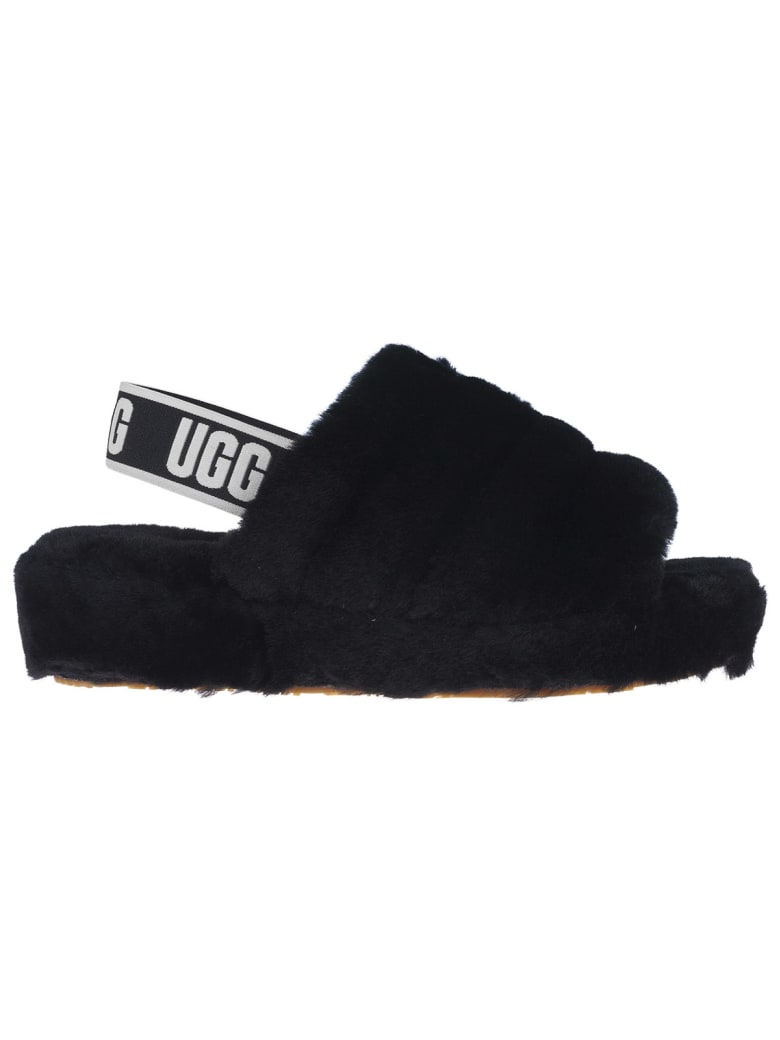 UGG Fluff Yeah Sliders - Black