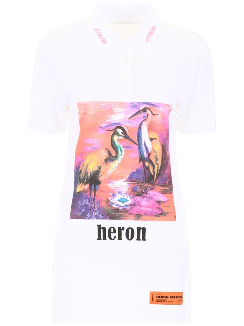 HERON PRESTON Printed Polo Dress - WHITE MULTI (White)