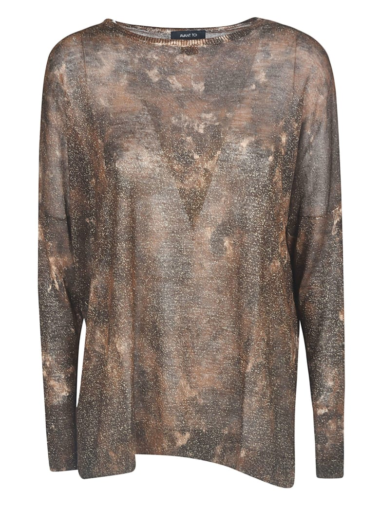 Avant Toi All-over Printed Sweater - Suede