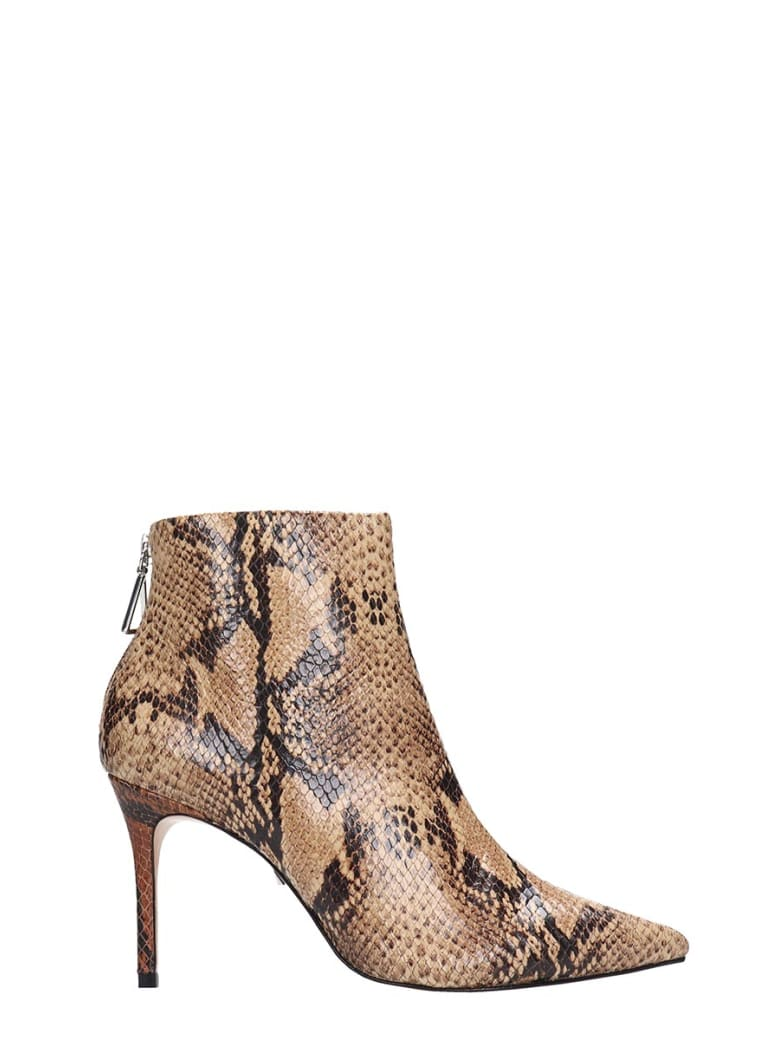 Schutz Avory Ankle Boots In Animalier Leather - Animalier