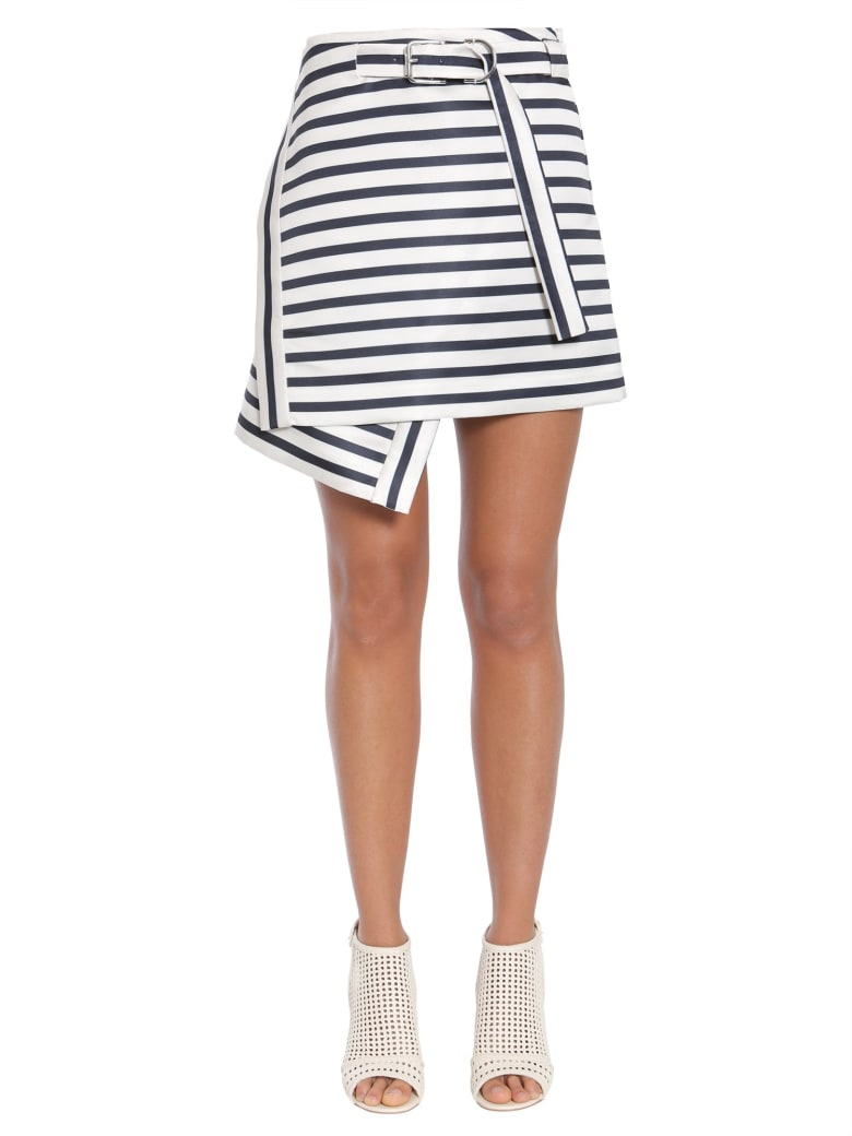 Carven Asymmetric Wrap Effect Skirt - BIANCO