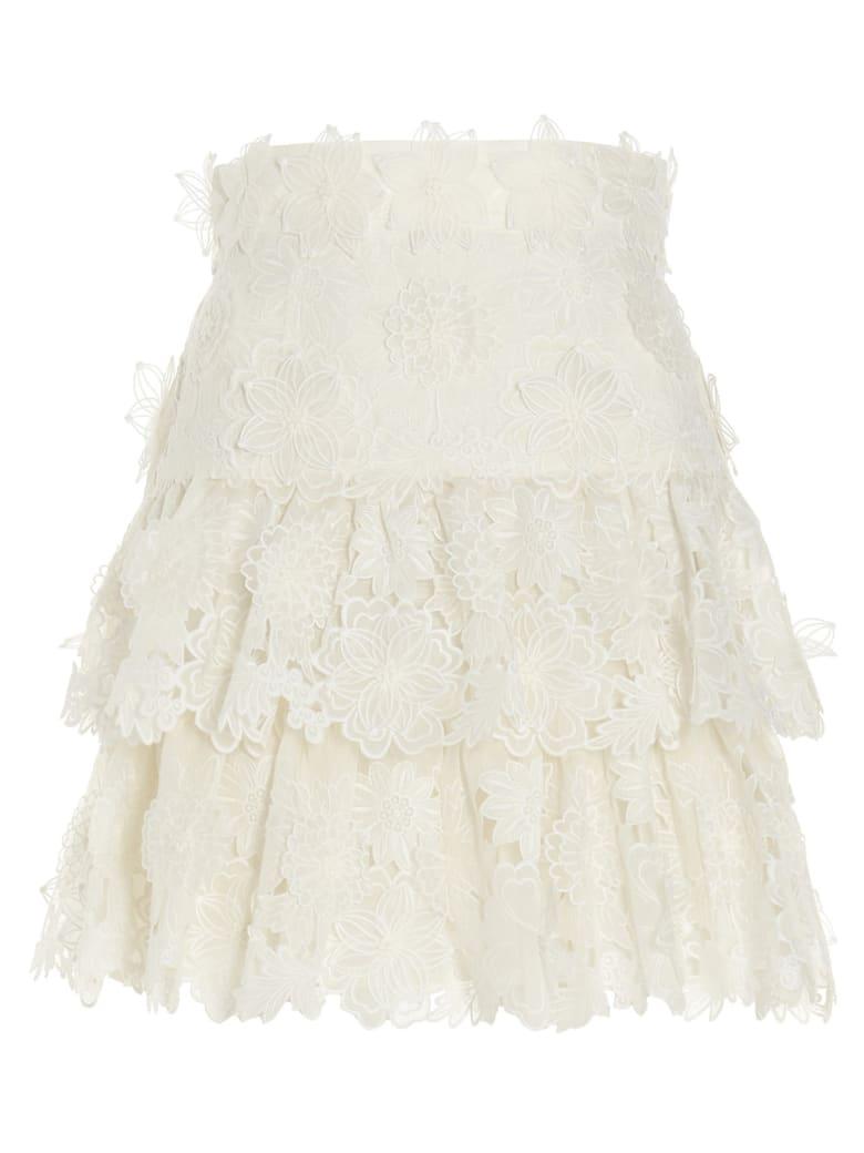 Zimmermann 'the Lovestruck' Skirt - White