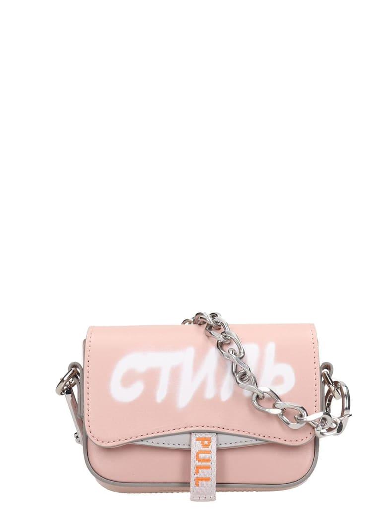 HERON PRESTON Shoulder Bag In Rose-pink Leather - rose-pink
