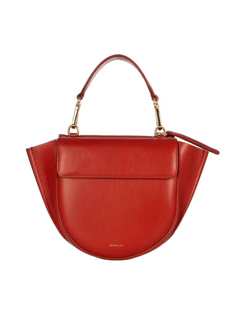 Wandler Mini Bag Hortensia Mini With Gold Insert - Mahogany Mahogany
