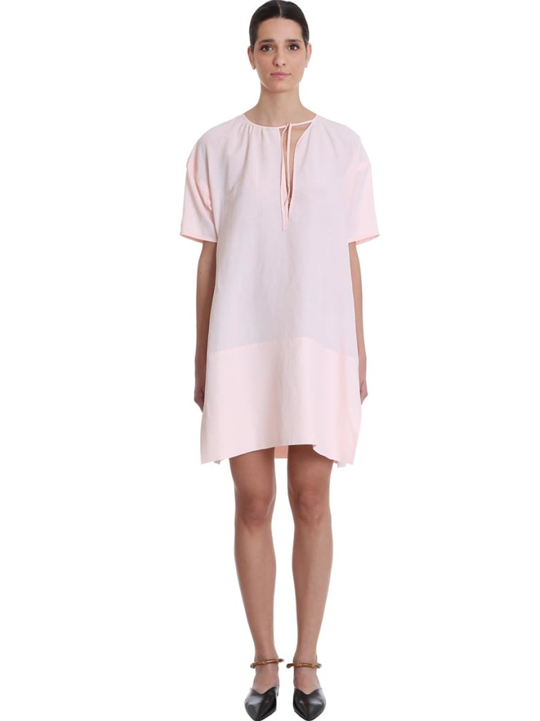 Jil Sander Meredith Dress In Rose-pink Viscose - rose-pink