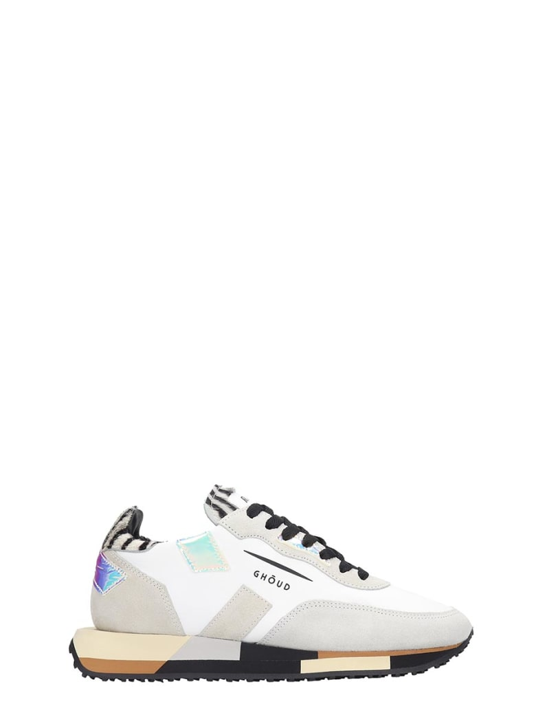 GHOUD Rush White Suede And Leather Sneakers - white