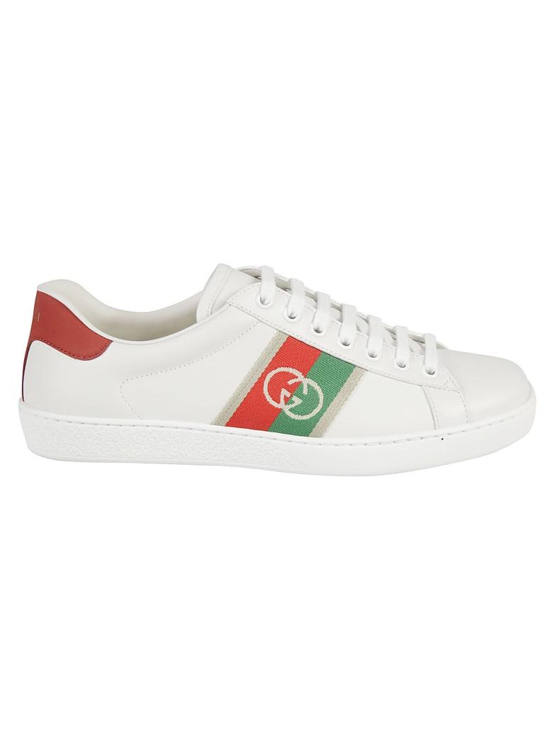 Gucci Side Logo Detail Sneakers - White