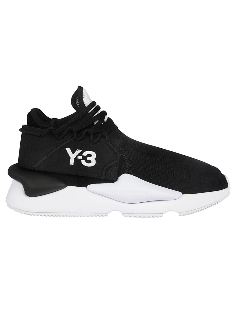 Y-3 Logo Embroidered Sneakers - black