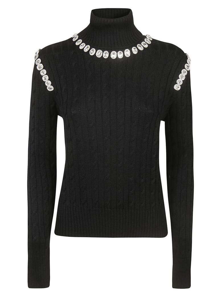 Giuseppe di Morabito Roll Neck Embellished Sweater - Black