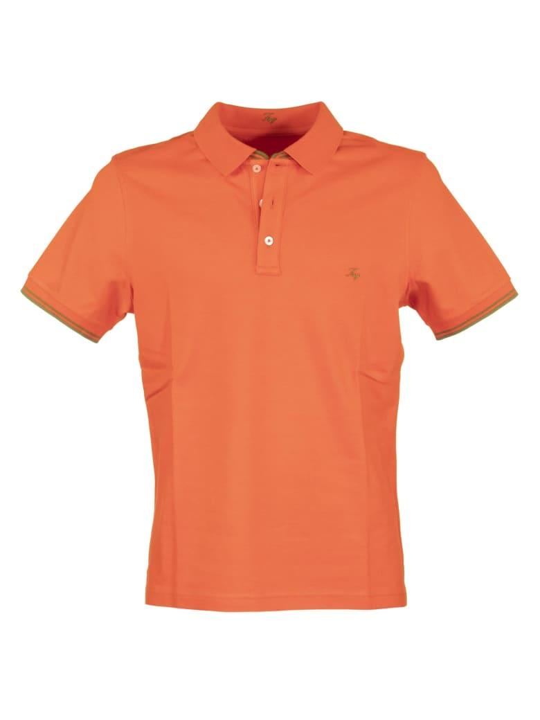 Fay Cotton Polo Shirt - Orange