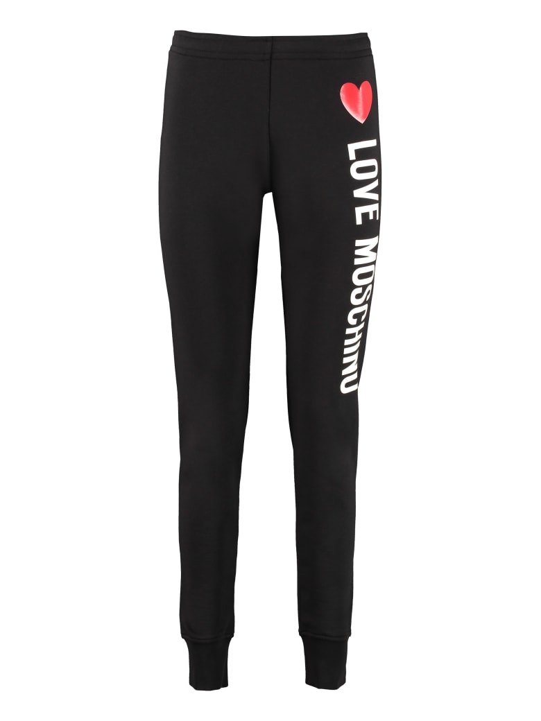 Love Moschino Printed Sweatpants - black