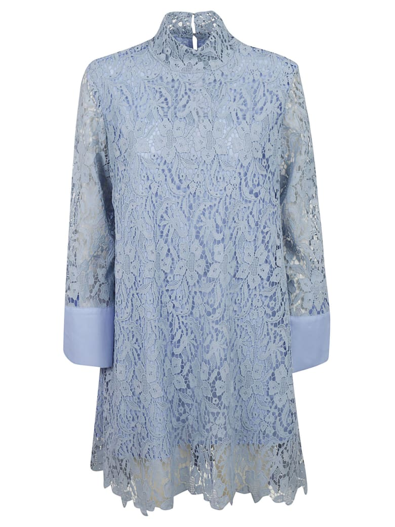 L'Autre Chose Laced All-over Dress - Light Blue