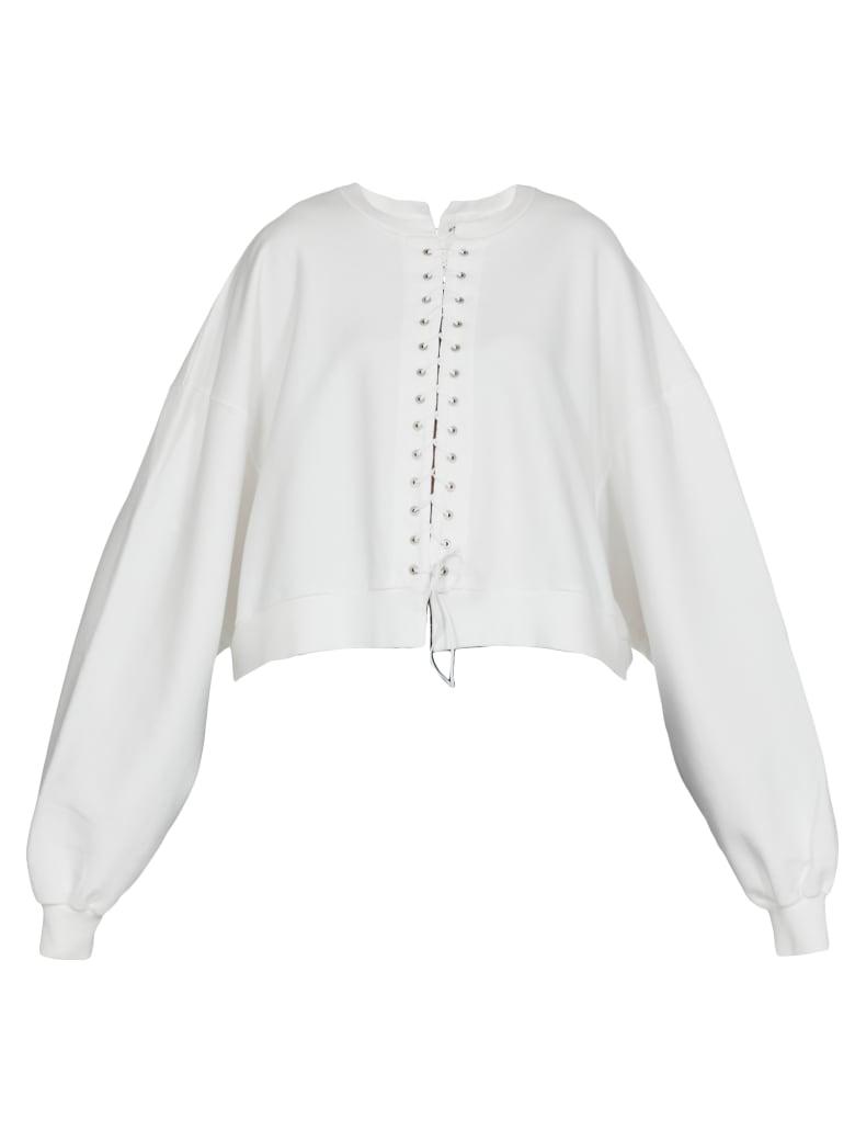 Ben Taverniti Unravel Project Cotton Sweatshirt - WHITE NO C
